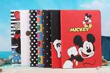 3D Cartoon Mickey Flip Stand Leather Cover Case For Apple iPad & Samsung Tablet
