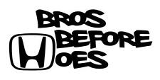 Bros Before Hoes Honda Decal (Vinyl Sticker CRX Civic Si Accord Prelude Delsol)
