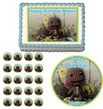 LITTLE BIG PLANET Edible Cake Topper Cupcake Image  Decoration Birthday Party