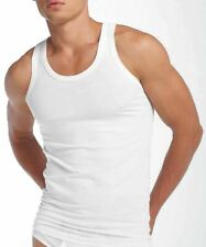 3 Pack Mens 100% Cotton Singlet Sleeveless Vests - Mixed Blue or White S-5XL