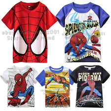 Spider Man Kids Boys Girls Superhero Clothes T-shirts Tee Casual Tops Age 1-10