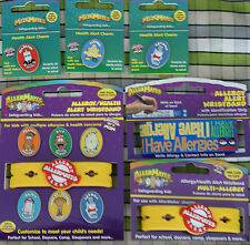 AllerMates ID Bands Health Alert and Allergy Wristbands, Charms Kids Children