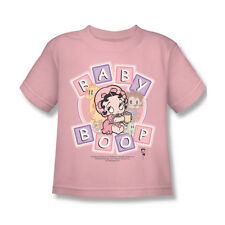 Betty Boop & Friends Letter Blocks Classic Comic Toddler Kids Youth T-shirt Top