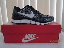 Nike Free 5.0 V4 Women's Running Training Shoe 511281 020 Black/White Geometric