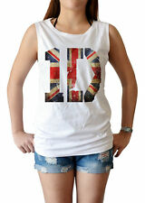 One Direction 1D UK union jack flag logo pop women's singlet Tank Top shirt XS-L