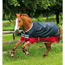 Horseware Mio Two Tone Lite Weight Turnout Sheet - navy/red