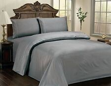 "LUXURIOUS CHECKERED SOFT 100% COTTON SATEEN SHEET SET, 15"" DEEP, 10 COLORS, GR"