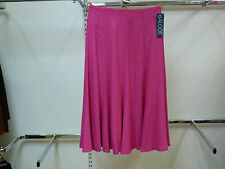 Saloos 'Linen' Look Skirt with Elasticated Waistband, Sizes 12 to 20