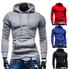 Sexy Casual Mens Zip Hoodie Top Sweatshirt Zipper Hooded Top Jacket Coat Blazers