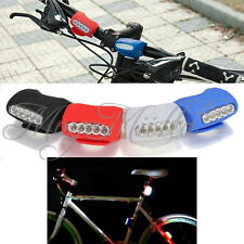 5 LED Silicone Bike Bicycle Cycling Head Front Lamp Rear Light Safety Warning LZ