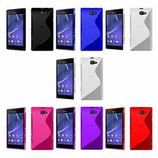 SONY XPERIA M2 S-LINE SILICONE GEL COVER CASE AND SCREEN PROTECTOR