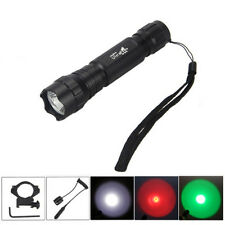 2000Lm CREE T6/Green LED Tactical Flashlight Torch Pressure Switch Hunting Light