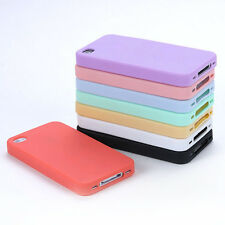 Novelty Topping TPU Silicone Sherbet Back Soft Cover Case For iPhone 4 4G/4S