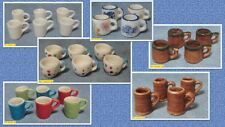 doll house minature 1:12 scale selection of mugs 6 sets to choose from.