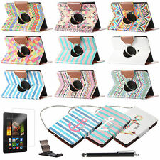 """For Amazon Kindle Fire HDX 7"""" 2013 Rotating PU Leather Folio Case Cover Stand"""