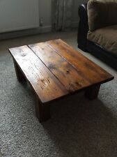 Handmade Coffee Table Chunky Reclaimed Wood Rustic Country Cottage Wooden Table