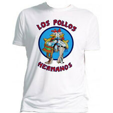 Breaking Bad OFFICIAL Los Pollos Hermanos Heisenberg Gus Jesse White T-Shirt 15C