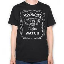 INSPIRED BY GAME OF THRONES T SHIRT - JON SNOW WHISKY LABEL NIGHT'S WATCH