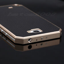 Aluminum Metal Fiber Carbon Hard Cover Case For Samsung Galaxy Note 2 II N7100