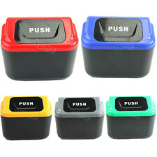 Hot Mini Auto Car vehicle Trash Rubbish Can Garbage Dust Case Holder Box Bin