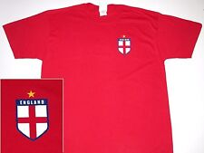 Men's National Team England Soccer T - Shirt  100% Cotton Red World Cup