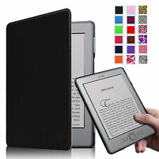 "For Kindle 5 & Kindle 4 Slim Leather Case Cover Magnet Closure 6"" E Ink Display"