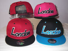 NEW URBAN LONDON RETRO VINTAGE FLAT PEAK HIP HOP SNAPBACK CAP SUN HAT