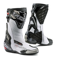 TCX R-S2 EVO BLACK WHITE SPORTS RACE RACING AIR FIT CE APPROVED MOTORCYCLE BOOTS
