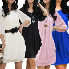 Lady Sexy Fashion Summer Casual Chiffon Short Mini Evening Cocktail Party Dress