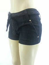 NEW Black J.CREW Womens Favorite Fit Denim Stretch Shorts Rope Belt Size 1 - 15