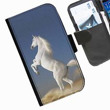 Horses Leather wallet mobile phone Skin case Personalised iPhone