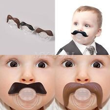 Funny Mustache Baby Boy Girl Infant Dummy Pacifier Orthodontic Nipples Beard