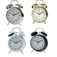 ACCTIM SAXON DOUBLE BELL WIND UP ALARM CLOCK TRADITIONAL BEDSIDE KEYWOUND LOUD