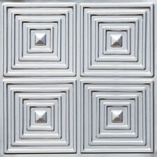 PVC Decorative Ceiling Tile 24x24 Easy Install DIY Home Decor #125