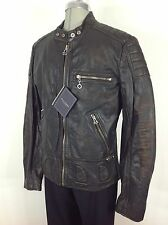 Andrew Marc NEW W T Black/Brown Vintage Motorcycle Jacket with detachable liner
