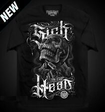 SICK IN THE HEAD MENS SHIRT DYSE ONE CHICANO TATTOO ART SKULL