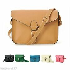 Women Candy color Crossbody Satchel Shoulder PU leather Messenger Bag Handbag