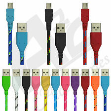 1M 2M Strong Fabric Braided Micro Usb Data Sync Charger Cable Fr Galaxy S4 S3 S2