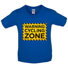 Warning Cycling Zone - Kids / Childrens T-Shirt - Cyclist - Cycle - 8 Colours