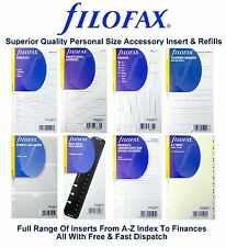 Filofax Personal Organiser Essentials Accessories Insert Refill Replacement Pack