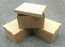 Large Archive Storage Boxes Strong Cardboard Lids Box Handles Removal Filing