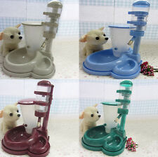 Pet Cat Dog Water Food Stand Deluxe Feeder Dish Raise Bowl Bottle Set # E9