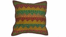 Patchwork Indian pillow cover 16x16 inches red/multicolor