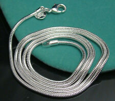 "Women Mens 3mm Snake Chain Silver Necklace Links 16 18 20 22 24 26 28 30""inch"