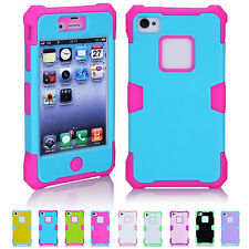 CHEAP SALE Trendy Shockproof Hybrid Back Skin Case Cover For Apple iPhone 4/4S