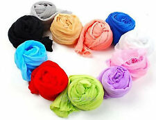 NEW Fashion Women Long Pure Color Sweet Chiffon Crinkle Scarf Wraps Shawl Stole