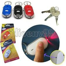 Sound Control Whistle Find Keychain Beeping Lost Key Chain LED Locator Finder 4c
