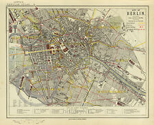 1883 Historical Vintage Map Berlin Germany Deutschland  Largest Size