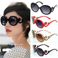 Retro Vintage Swirl Arms Style Inspired Round High Oversize Sunglasses Baroque