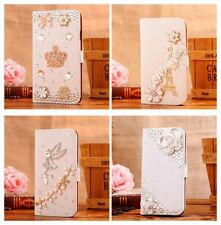 Hot Sale Luxury 3D Bling Crystal Rhinestone Flip Wallet PU Leather Case Cover 03